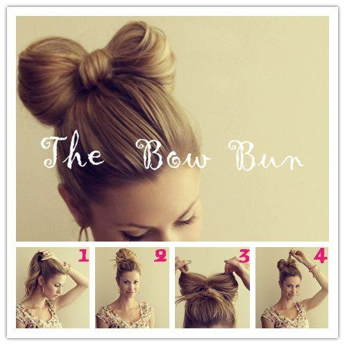 Ponytail Bows For Girls Steps To Make The Bow Bunstep 1 Gather