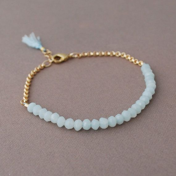 Teal Amazonite Gemstone Beaded Gold Bracelet Also By