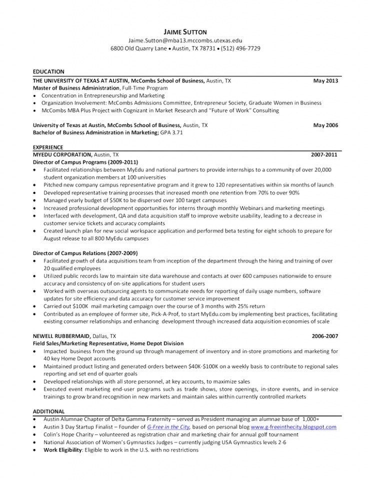 Mccombs Resume Template Facebookcn Resume Template Business Resume Template Resume Design Template
