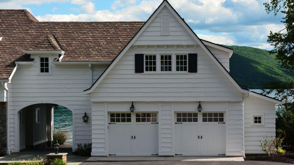 Gorgeous Lake Home With Cambridge Model Doors Garage Door Trends