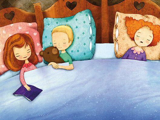 Sleep Tight Print Children Decor Nursery Art Multicolored Night Moon Dreams Kids