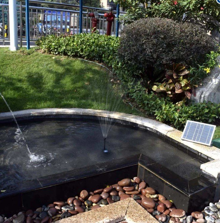 High Power Solar Landscape Fountain Equipment Solar Water Pump Garden  Fountains Decorative Fountain (Intl)   Koi Fish For Sale Philippines