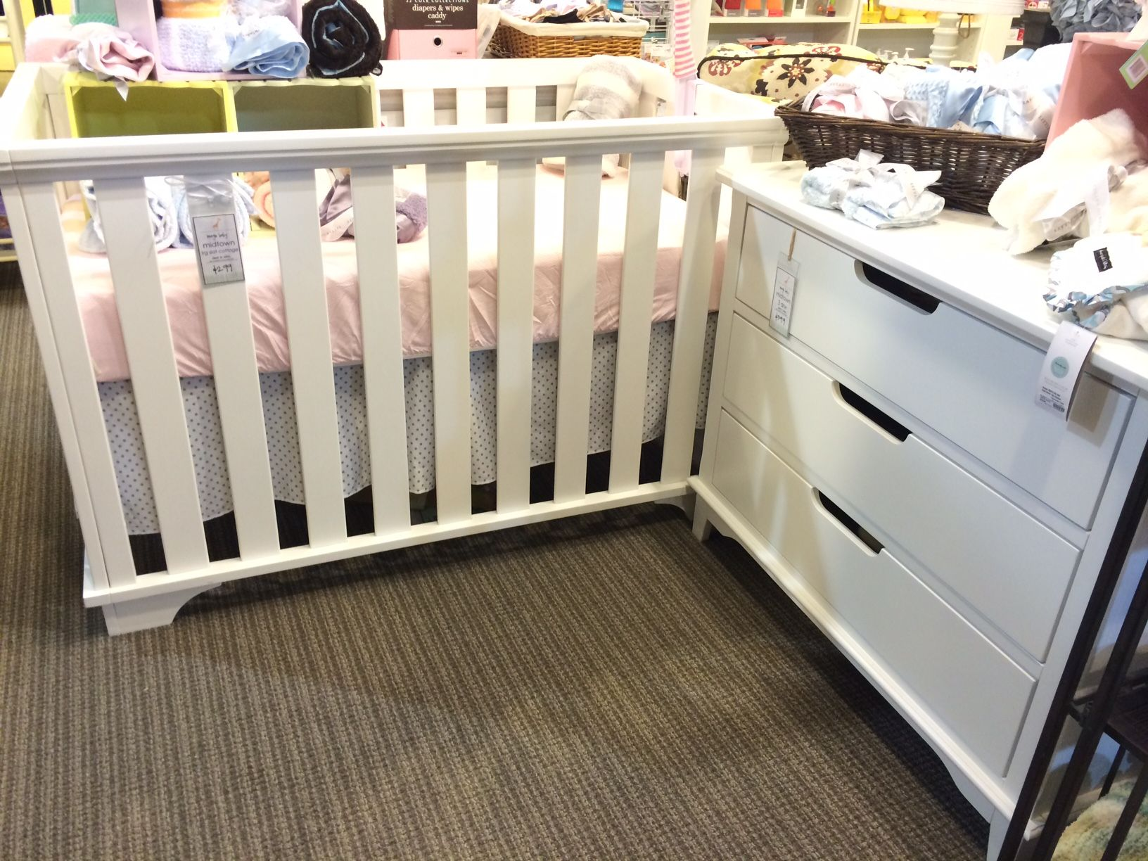 Jameson panel crib for sale - Imagio Baby Midtown Island Crib And 3 Drawer Dresser In White