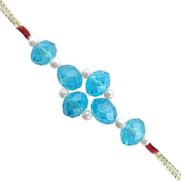 Jpearls Blue Stone Rakhi #rakshabandhan #jewellery #rakhigifts #rakhis #brother