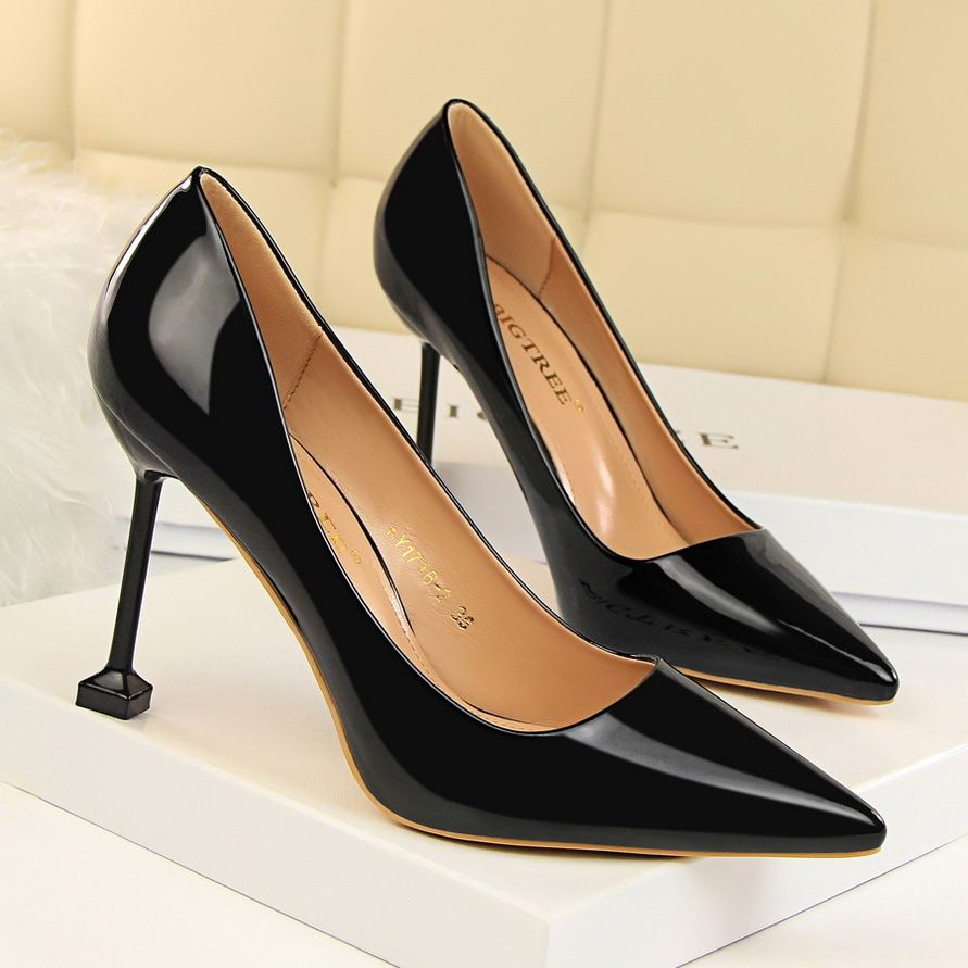 36210652975d Black Square Heel Patent High Heel Pumps Shoes Free Shipping. Tag your  friend who would love these. Visit Heelscn.com Search Item ID BT121 Tag  your friend ...