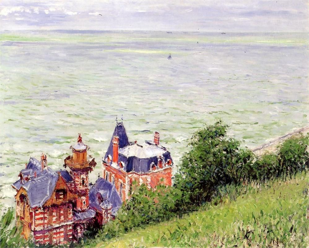 Villas at trouville 1884 oil on canvas private collection impressionism gustave