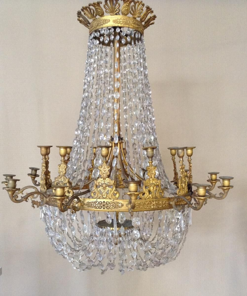 Chandelier with lace braiding ornament #Empire style, with 24 lights ...