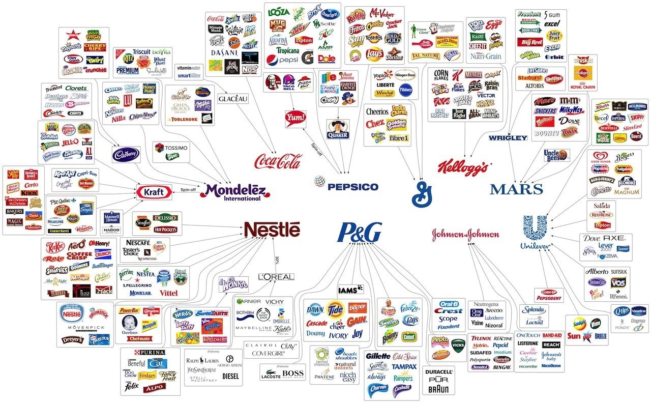 10 Companies that Control the Food Industry [Infographic ...