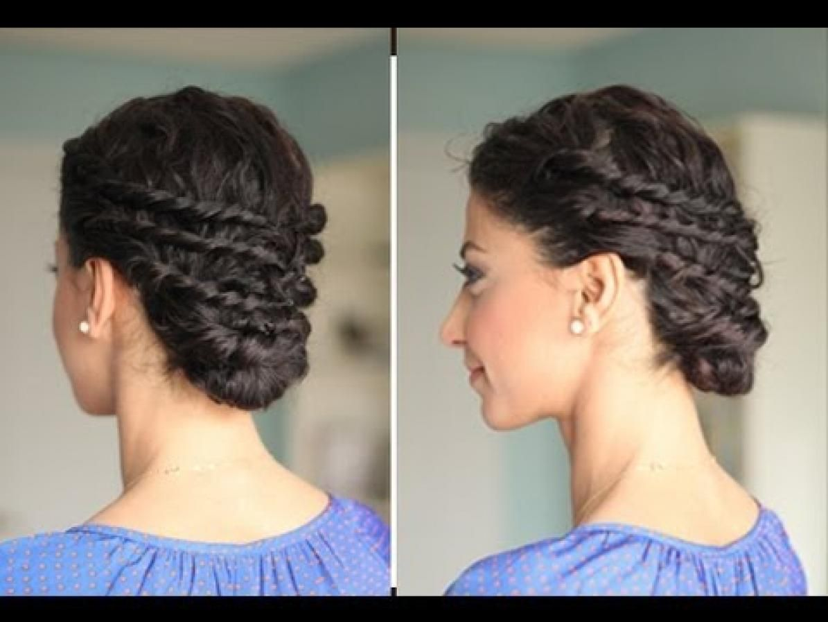 22 Totally Pretty 10-Minute Hairstyles for Curly Hair | Low buns ...