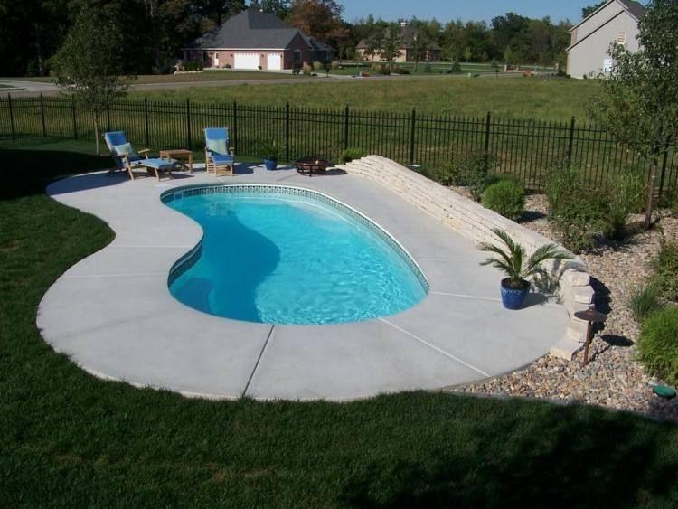 Simple Inground Pool Designs Small Inground Pool Inground Pool