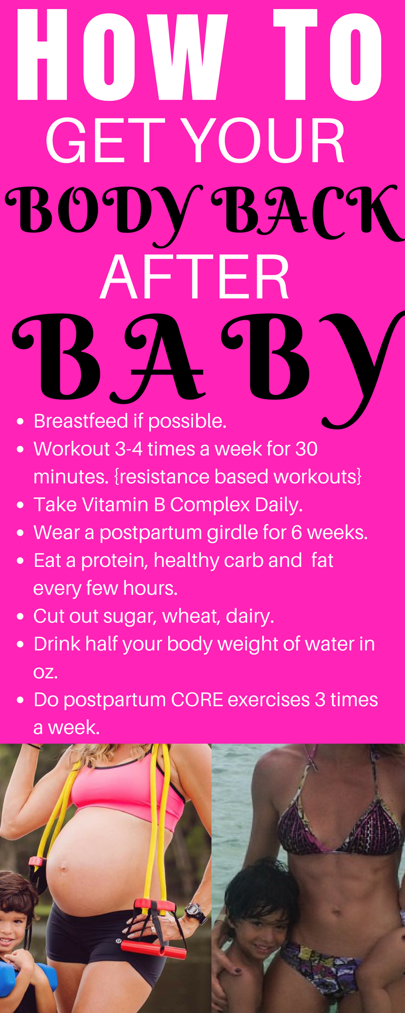 How To Get Your Body Back With These Easy Steps Pregnancy Tips