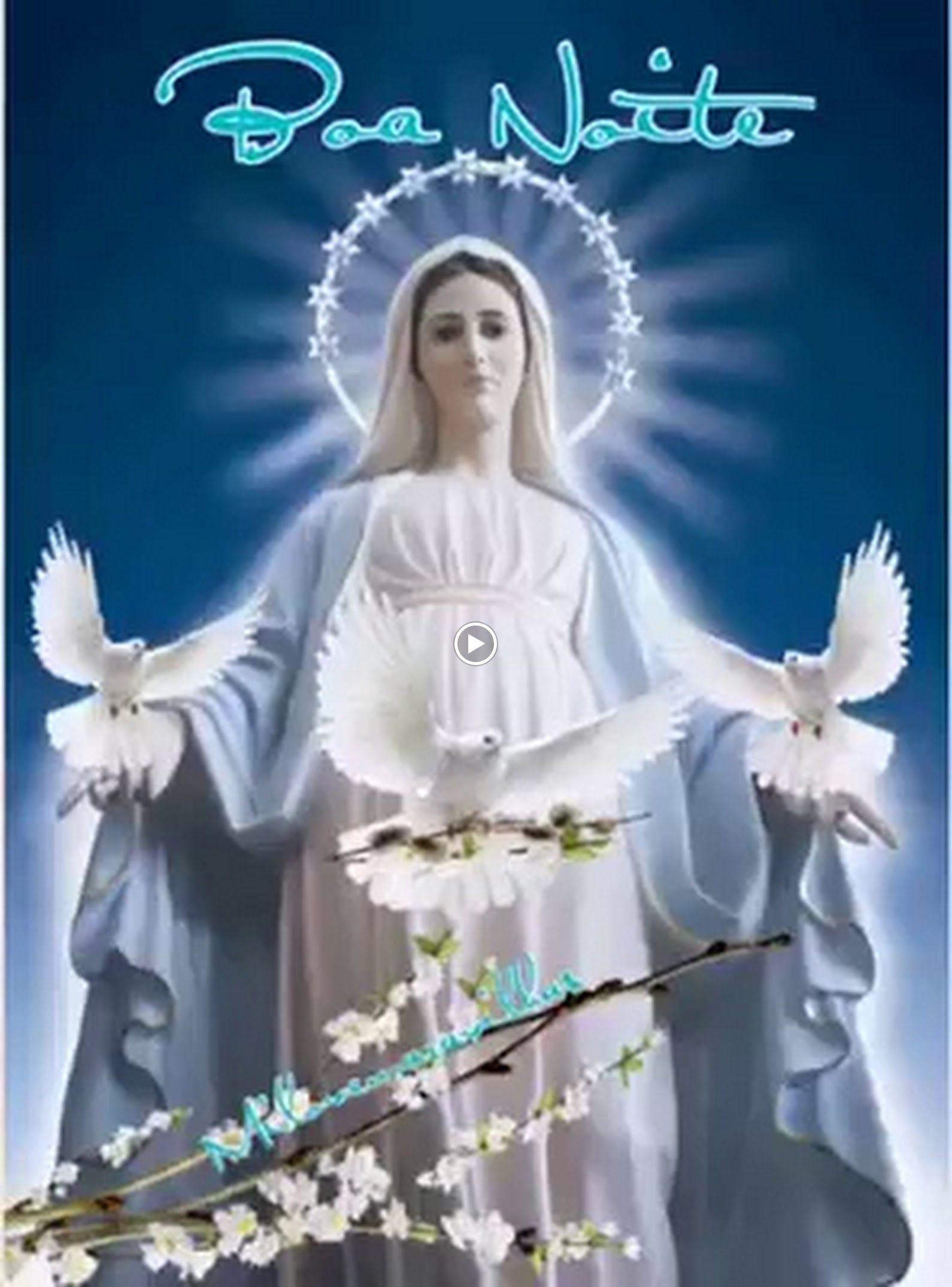 Boa Noite Com As Bênçãos De Nossa Senhora Lourdes De Fatima