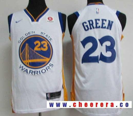 Men s Golden State Warriors  23 Draymond Green White 2017-2018 Nike  Swingman Rakuten Stitched NBA Jersey e2902d9c2