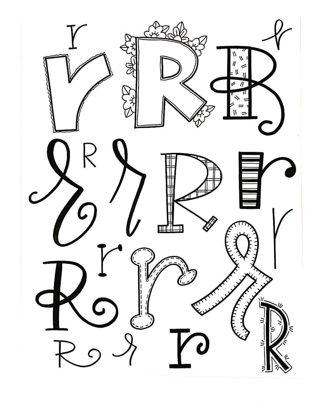 "Letter R Fonts : letter, fonts, Likes,, Comments, Jessie, Arnold, (@mrs.arnoldsartroom), Instagram:, ""Letter, #handletteredabcs, #ha…, Lettering,, Lettering, Alphabet,, Alphabet"