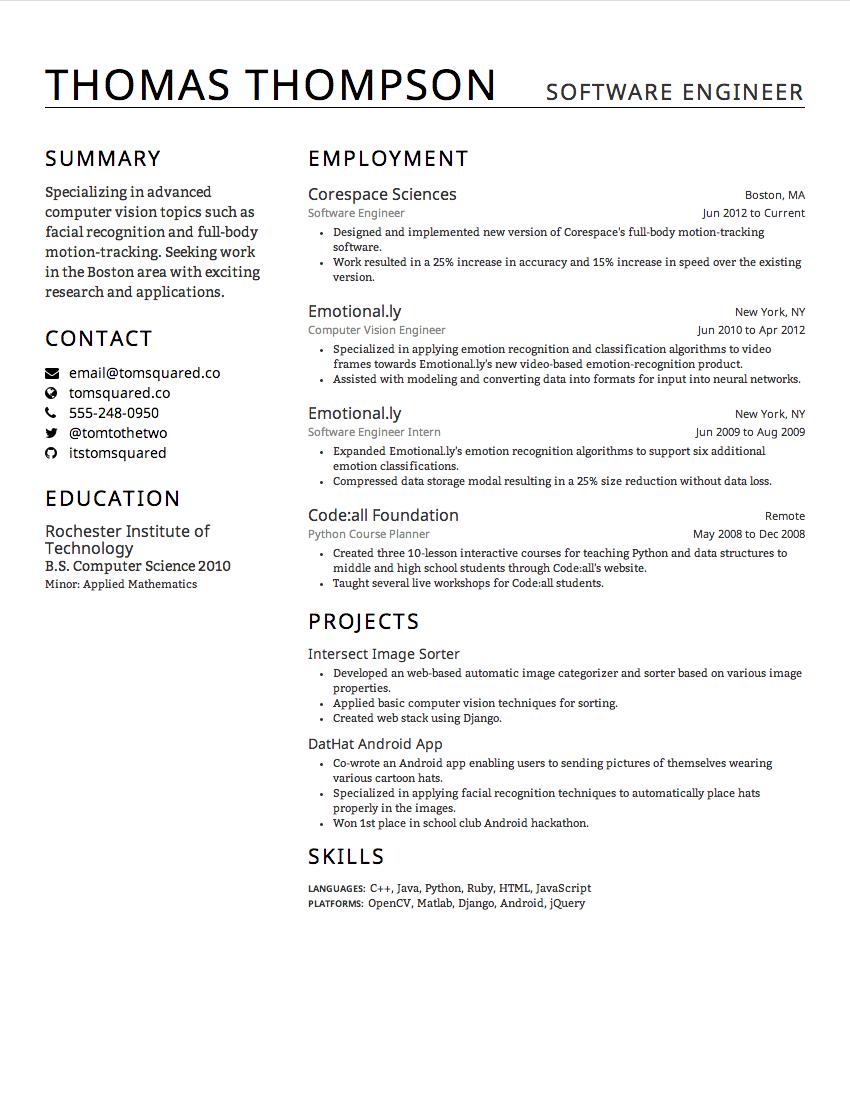 The Bristol resume design theme (March 2014)  #resume | Creddle