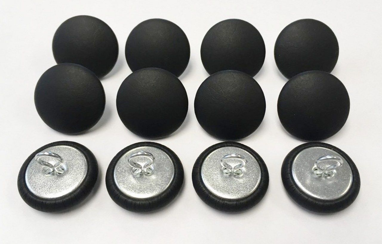 Closures And Connectors 183253 12 Wire Eye Upholstery Buttons Black