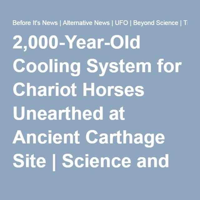 2,000-Year-Old Cooling System for Chariot Horses Unearthed at Ancient Carthage Site   Science and Technology