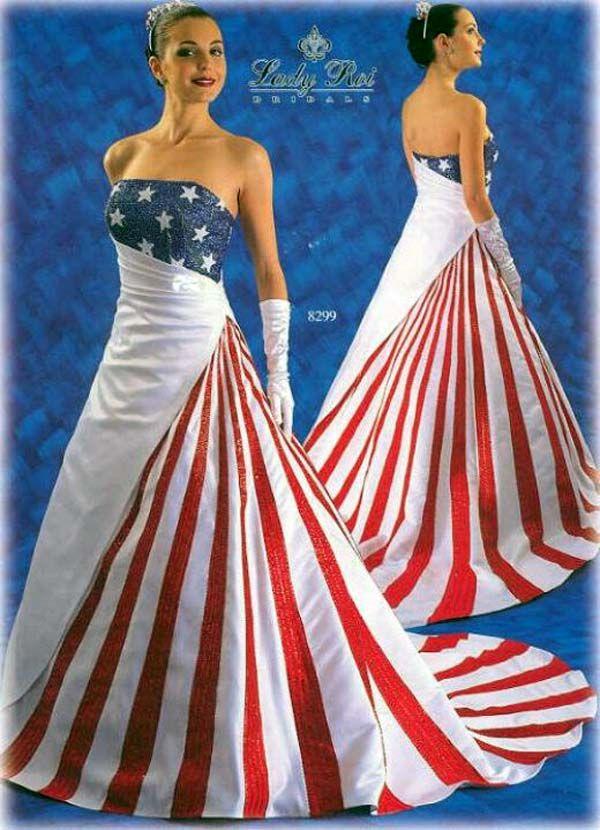 wedding dress   Ideas for Tasha\'s American Flag wedding   Pinterest ...