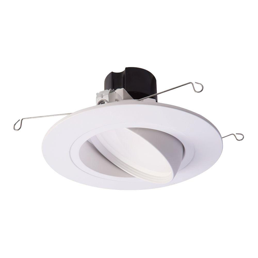 Halo Ra 5 In And 6 In White Integrated Led Recessed Ceiling Light Fixture Adjustable Led Recessed Ceiling Lights Recessed Lighting Retrofit Recessed Lighting