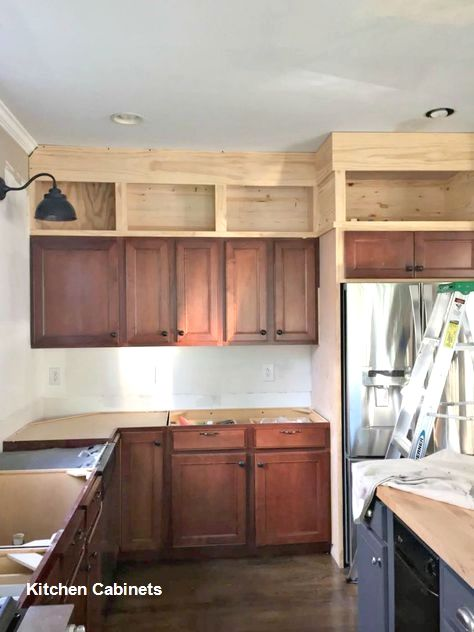 Kitchen Cabinet Designs - Building kitchen cabinets, Kitchen cabinets to ceiling, New kitchen cabinets, Cabinets to ceiling, Diy kitchen cabinets, Kitchen remodeling projects - Source
