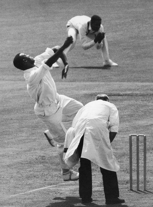 Photo Charlie Griffith Bowls West Indies Cricket Team World Cricket Cricket Match