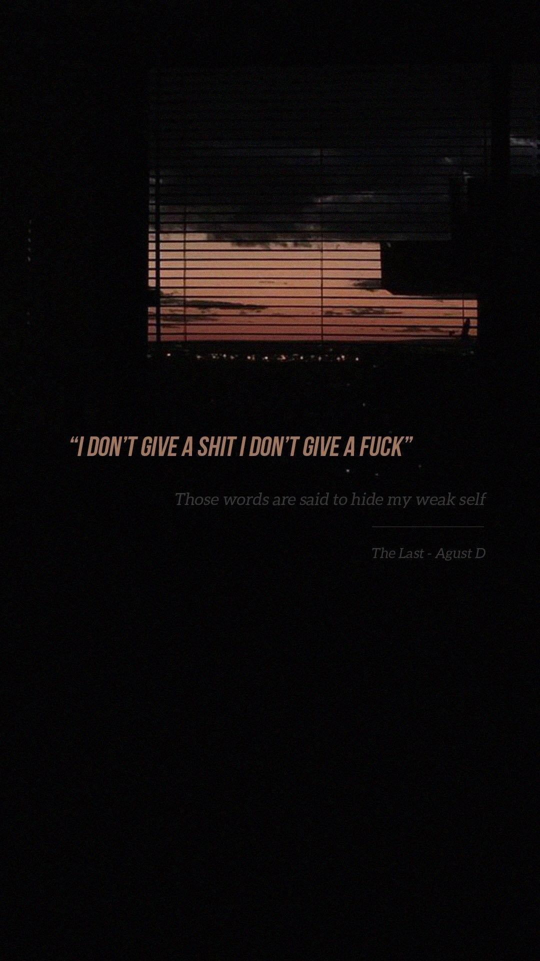 The Last Agust D Bts Lockscreen Lyrics Kutipan