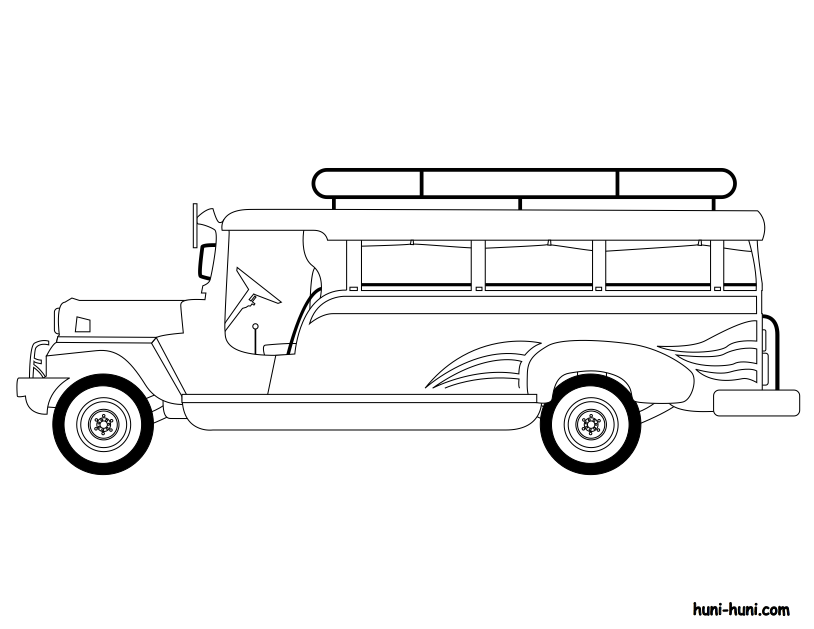 Pin By Andrea Javier On International Festival Craft Ideas Jeepney Black And White Clipart Black And White