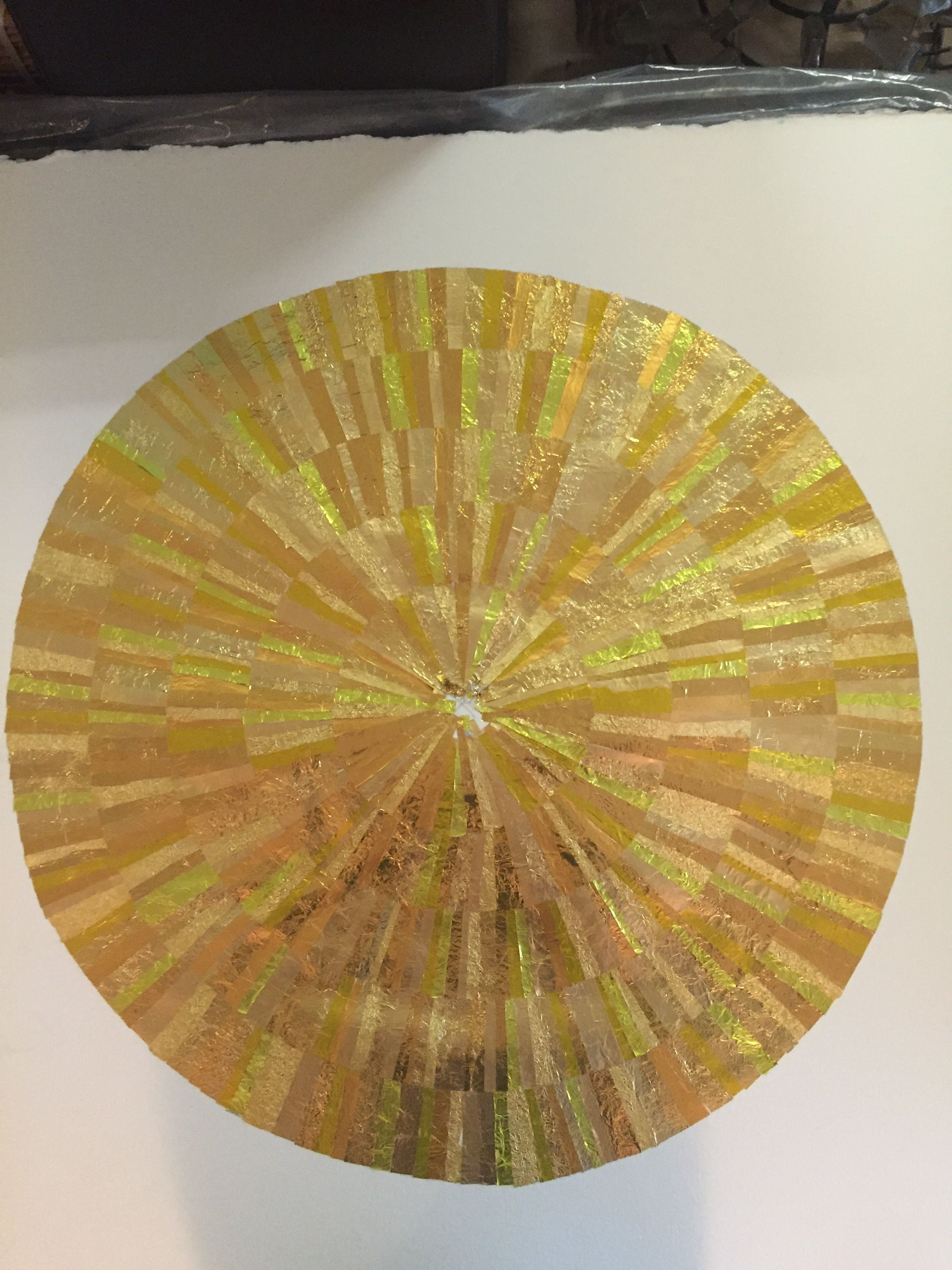 The making of GOLD wall art from recycled chocolate foils. Fifth ...
