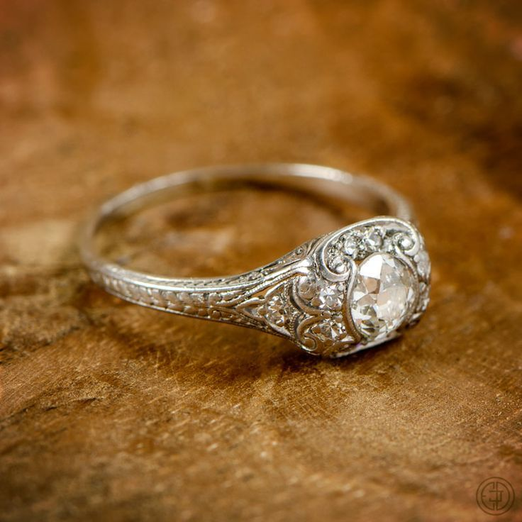 Old Mine Cut Diamond Engagement Ring My Style Pinterest