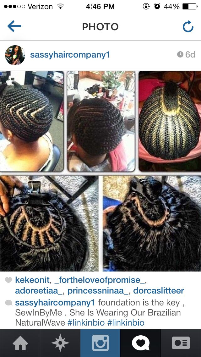 Sew in/ braid pattern | HAiR&WEAVE SLAYERS ©™ | Pinterest | Braid ...