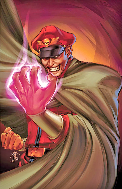 Bison Street Fighter # 3 UDON Comic Power Foil Cover Art by Jo Chen