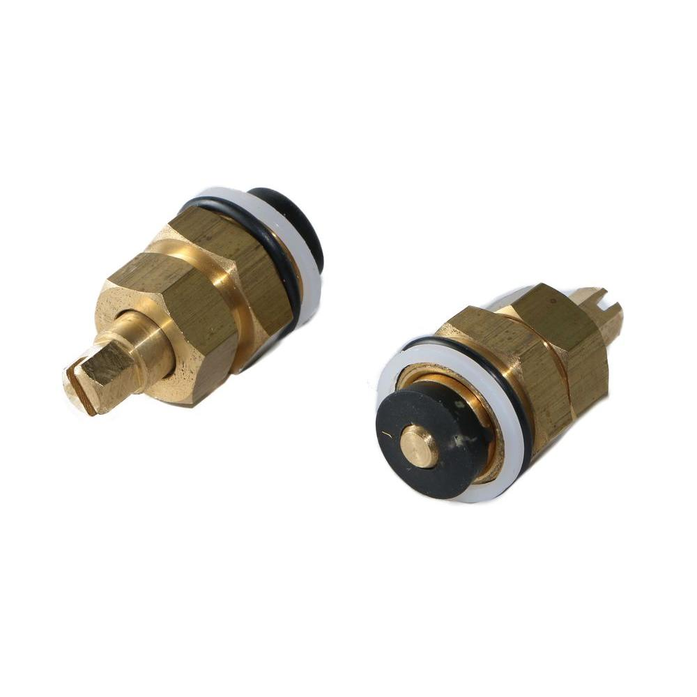 Jag Plumbing Products Integral Stop Assembly Fits Powers Black