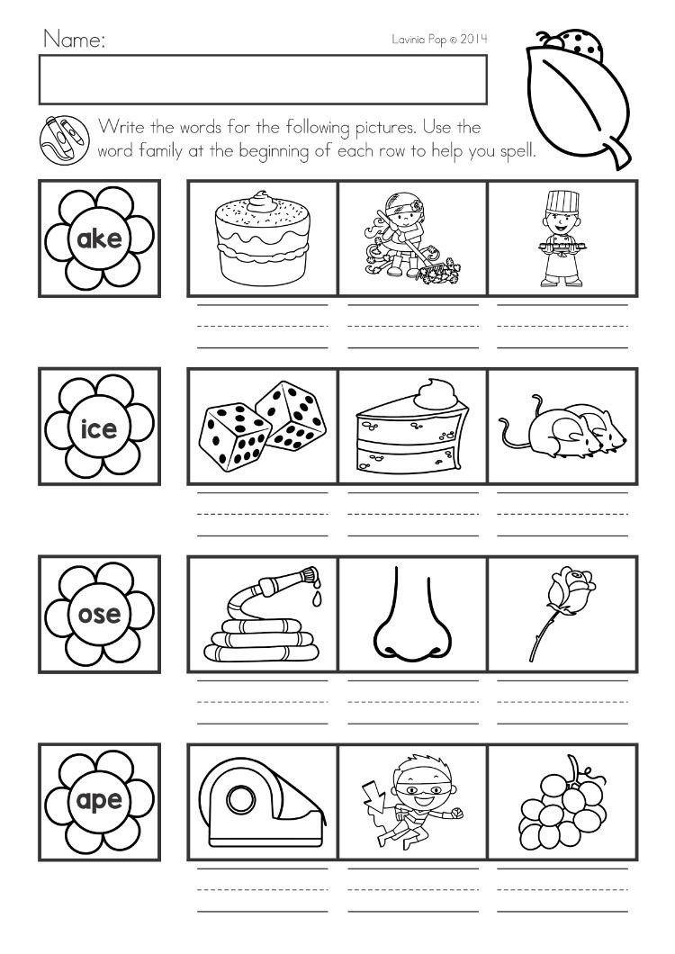 Word Family Worksheet Kindergarten Spring Kindergarten Math And Literacy Worksheets In 2020 Spring Math Kindergarten Word Family Worksheets Kindergarten Worksheets