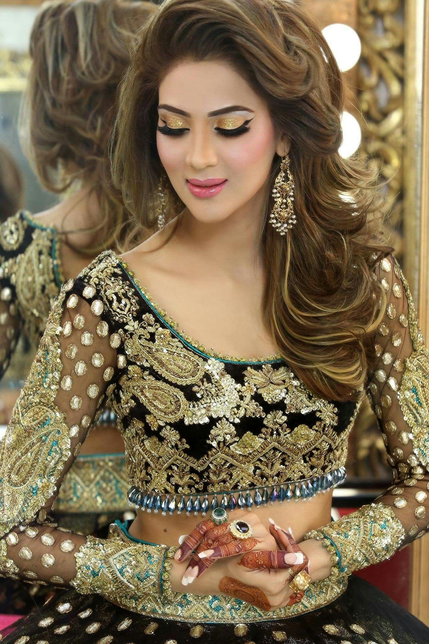 Pin by ayesha Azmat on Beauty Indian wedding hairstyles