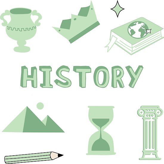 Photo of Light Green History School Subject Sticker Pack Poster