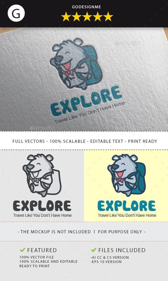 explorer bear logo design pinterest bear logo ai illustrator