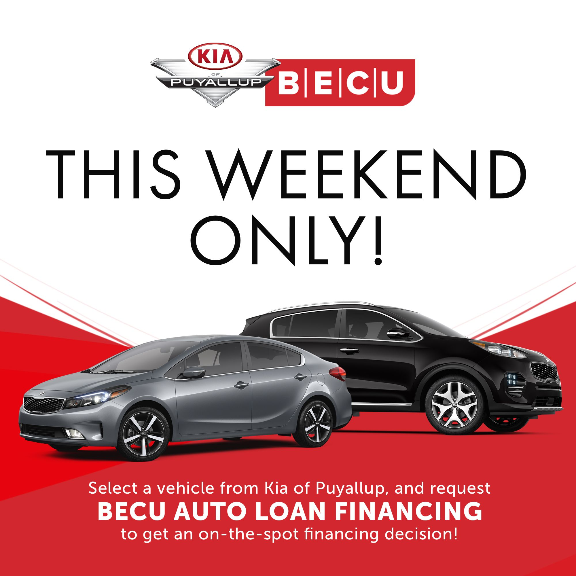 Becu Car Loan >> Kia is participating in BECU's Spring Auto Event! Select a car and request BECU auto loan ...