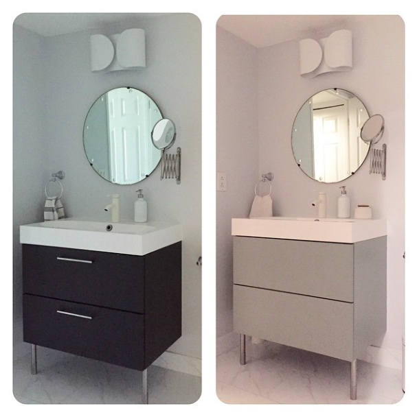 Bathroom Makeover Toronto toronto condo before and during. mini bathroom makeover in