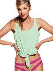 Side-tie Tank - PINK - Victoria's Secret