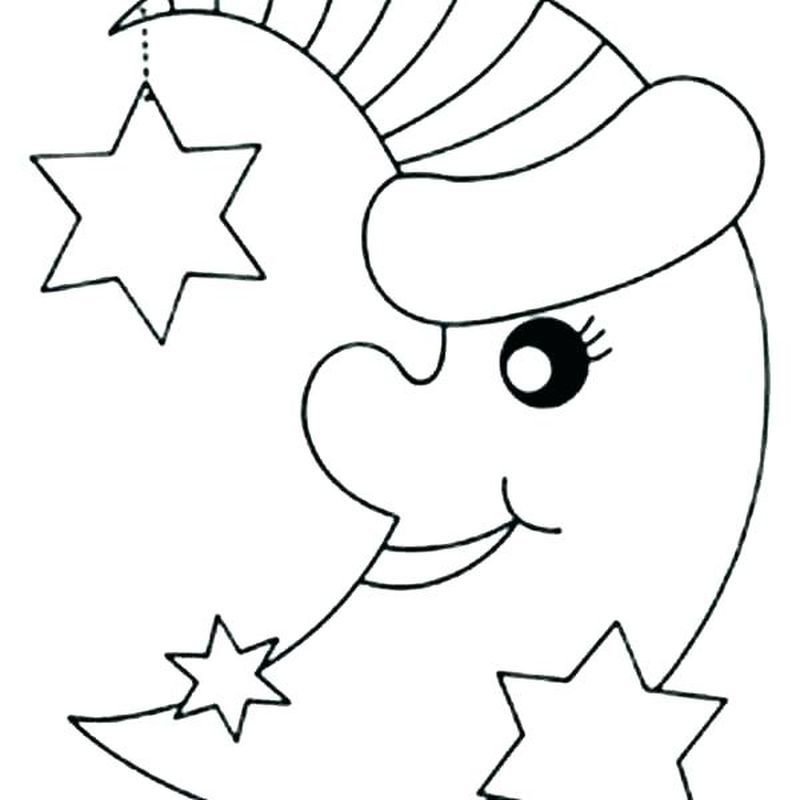Sun Coloring Pages Printable Sun Coloring Pages Moon Coloring