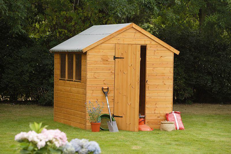 Traditional 8x6 Shiplap Apex garden shed for general garden storage. #gardenstorage