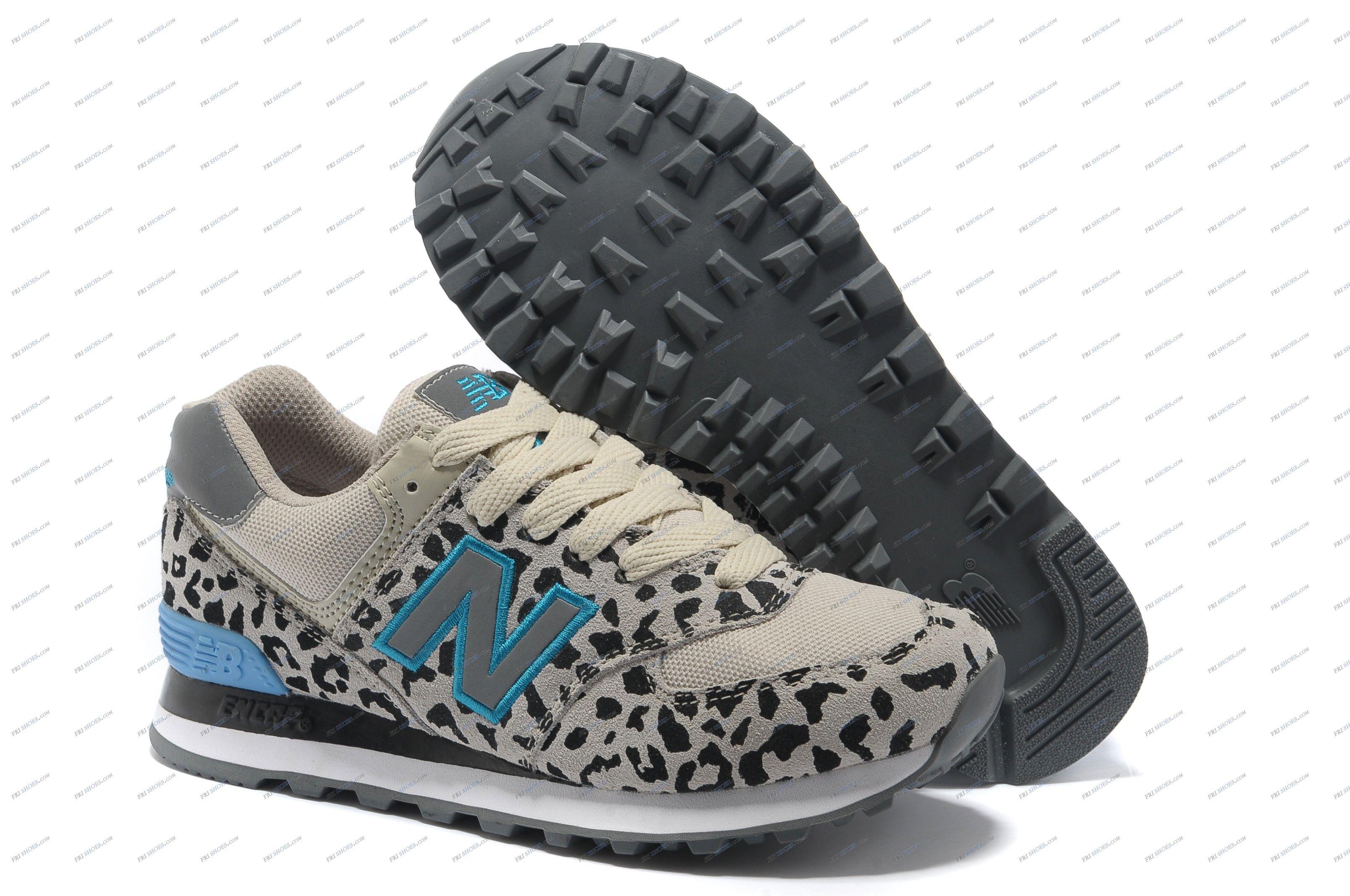 Womens New Balance 574 Leopard Grey running shoes