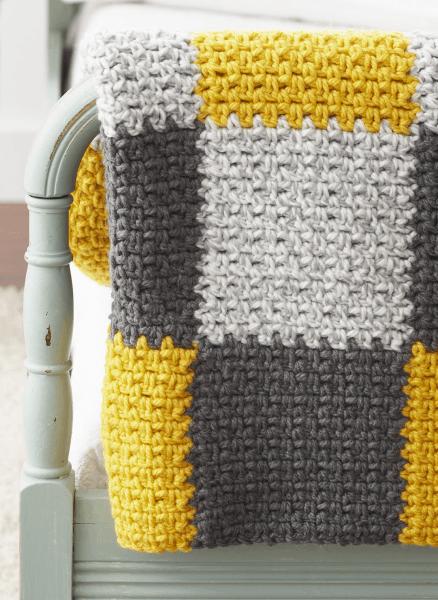 Easy Patchwork Blanket | Pinterest | Babydecken und Häkeln