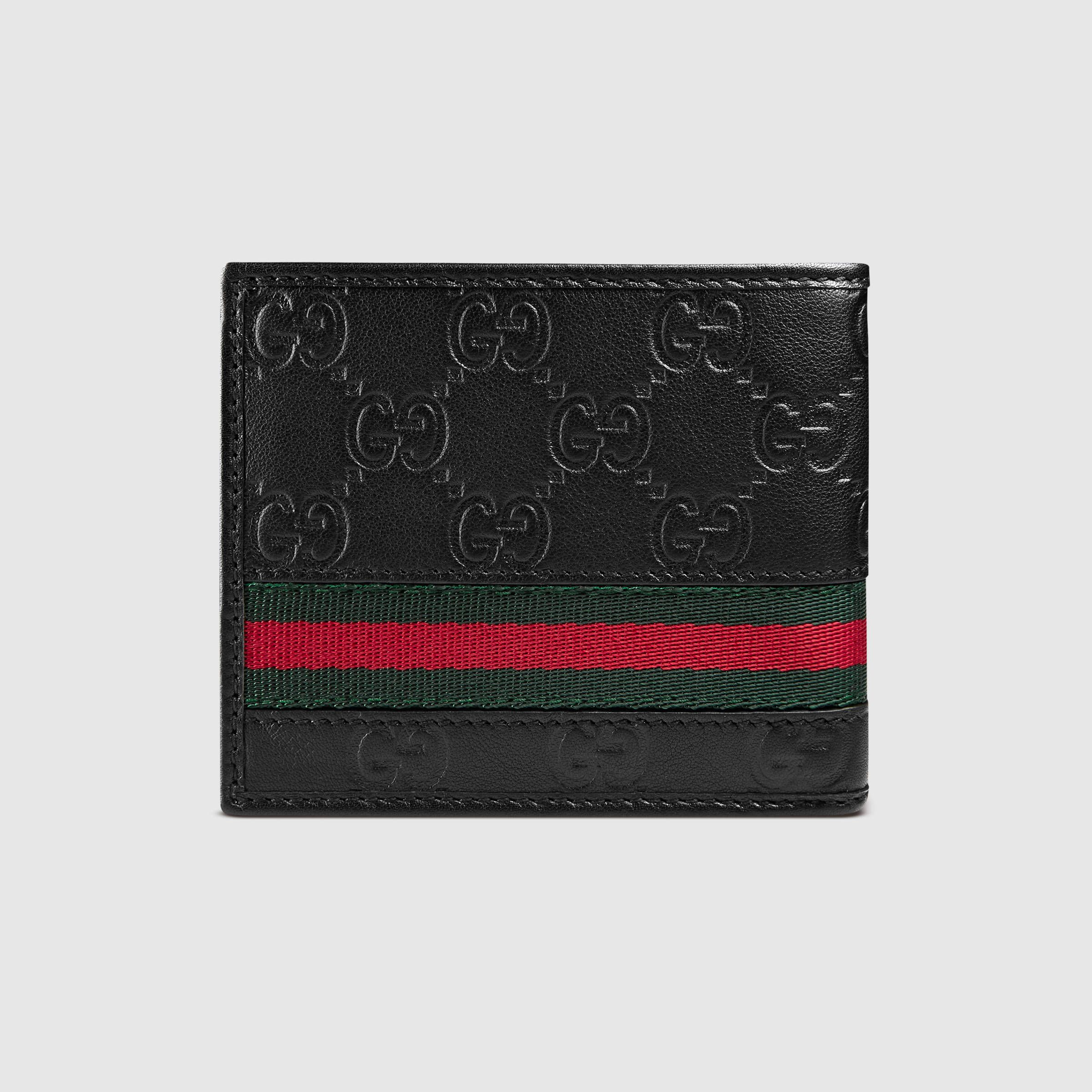 1d407f291 Gucci Men - Guccissima web bi-fold wallet - 138042A0VBR1060 More Types Of  ...