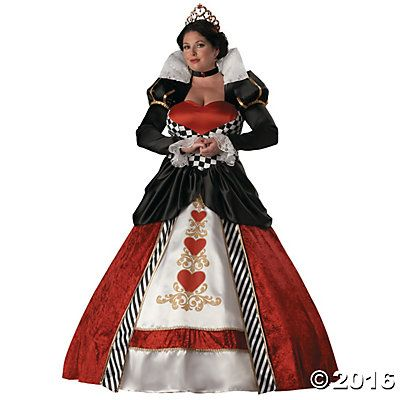 Queen Of Hearts Plus Size Halloween Costume for Women