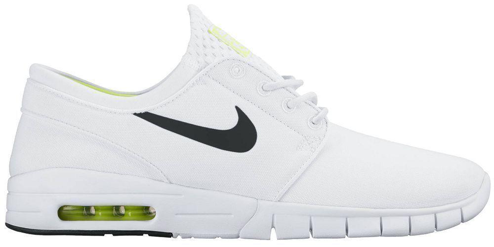 Nike SB Stefan Janoski Max Skateboarding Shoes Mens 9.5 White Black 631303 107 #Nike #Skateboarding