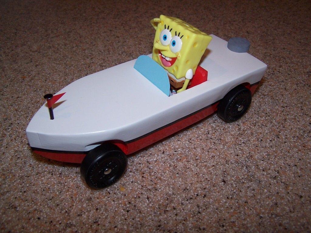 SpongeBob Pinewood Derby Car | 3 cumple gabi ideas | Pinterest