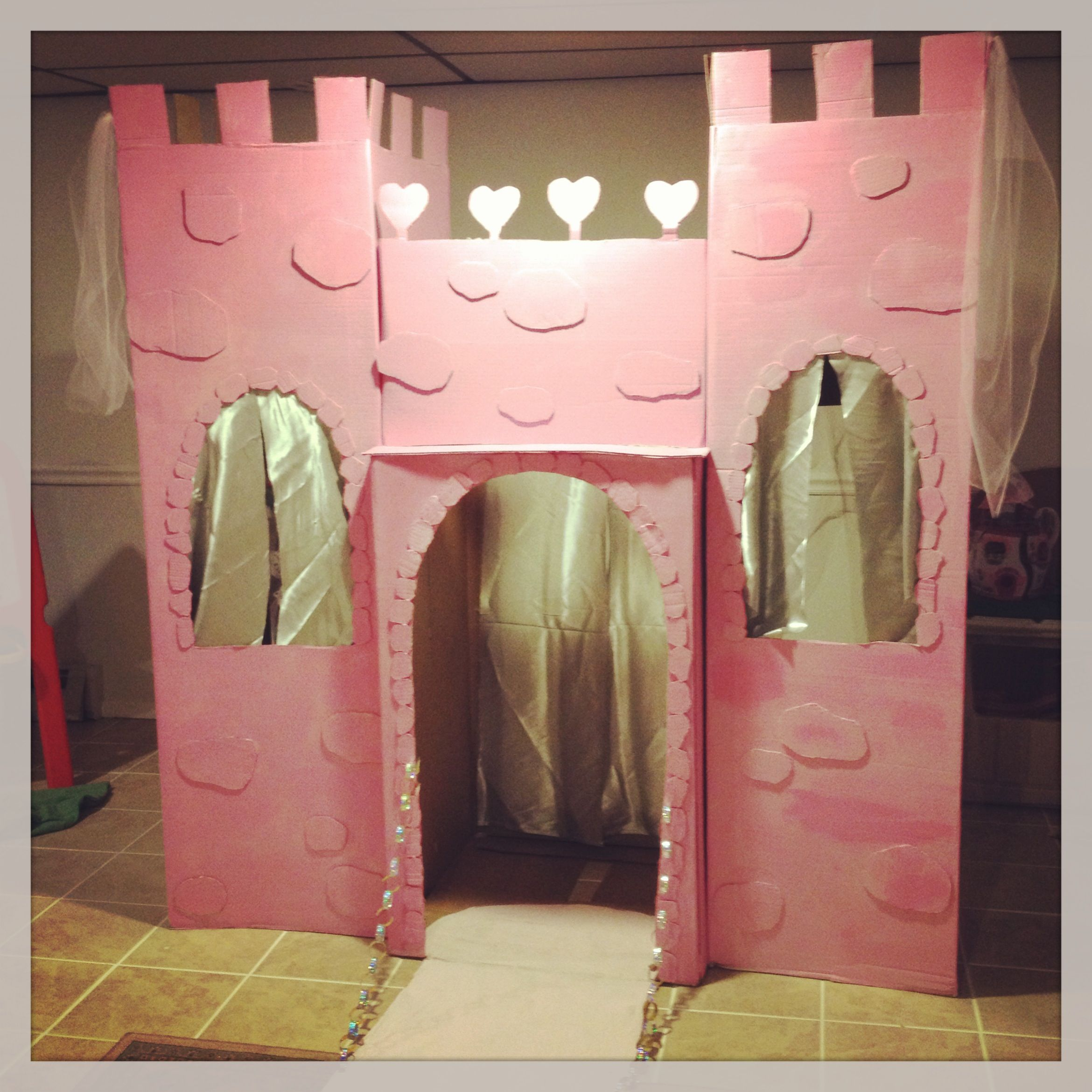 diy cardboard castle that lasts for months perfect for parties and