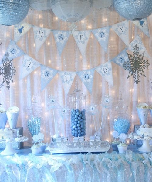 imagem 25 Winter wONEderland Birthday Party Pinterest