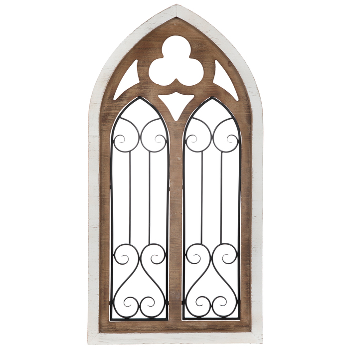 White Cathedral Arch Wood Wall Decor in 2020 Arched wall